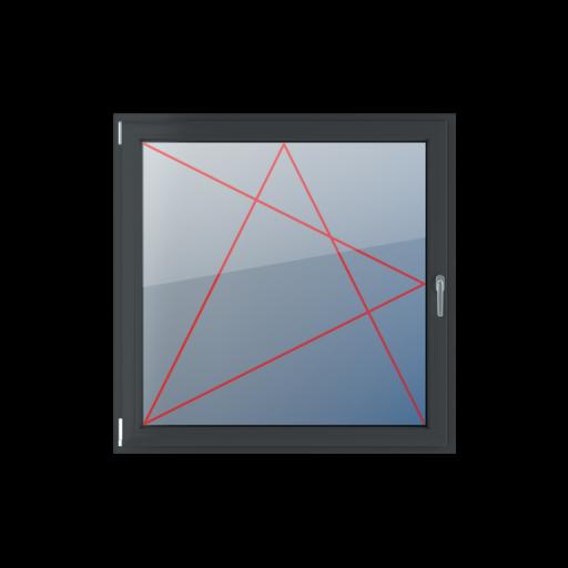 Typy okien 1-skrzydłowe Rozwierno-uchylne lewe