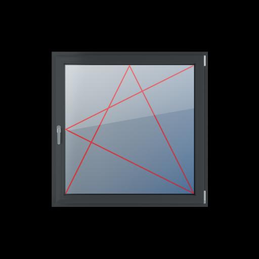 Typy okien 1-skrzydłowe Rozwierno-uchylne prawe