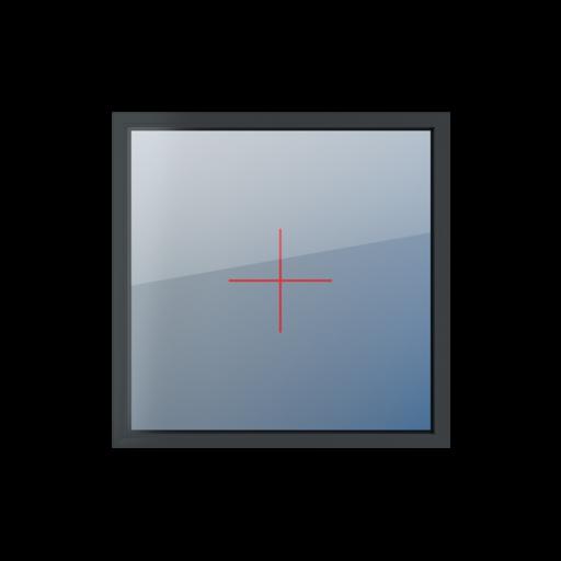 Typy okien 1-skrzydłowe Szklenie stałe w ramie