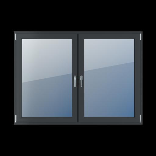 Kolory okien Aluplast 2-skrzydłowe