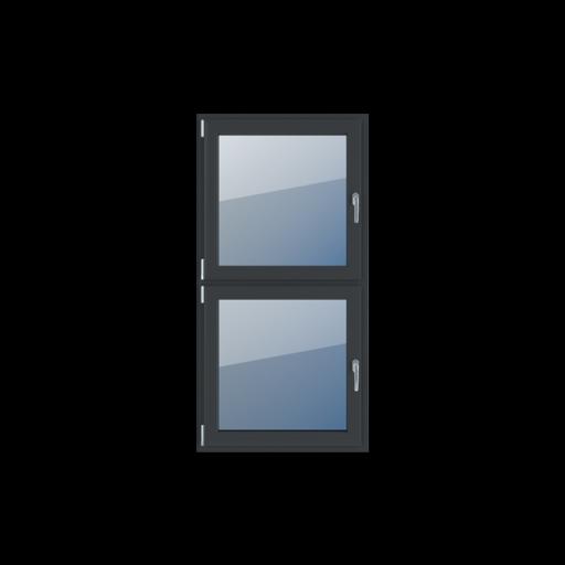 Typy okien 2-skrzydłowe Podział symetryczny pionowy 50-50