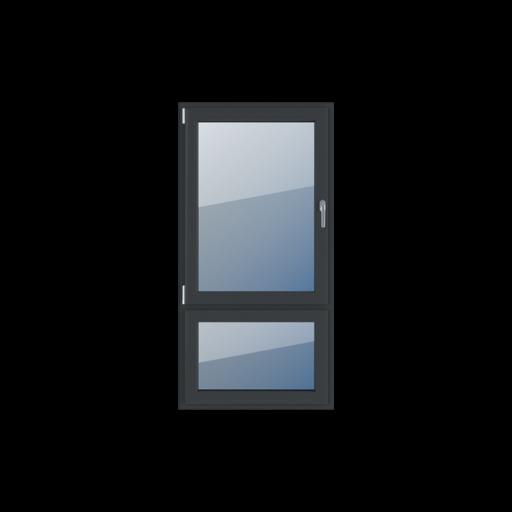 Typy okien 2-skrzydłowe Podział niesymetryczny pionowy 70-30