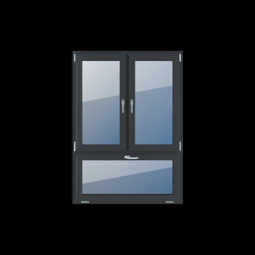 Typy okien 3-skrzydłowe podział niesymetryczny pionowy 70-30
