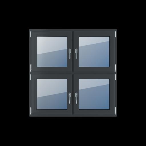 Typy okien 4-skrzydłowe