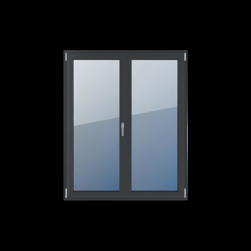 Typy okien balkonowe 2-skrzydłowe z ruchomym słupkiem