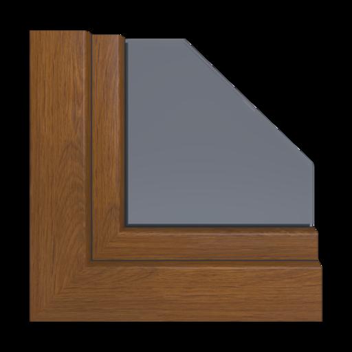 Okna Kolory Veka Dąb rustykalny Zewnętrzny