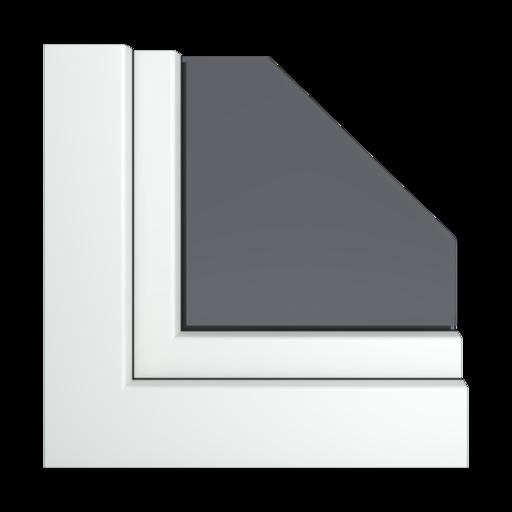 Kolory okien Veka Srebrno-szary