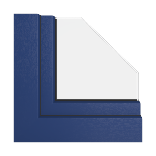 Kolory okien Veka Kobaltowo-niebieski