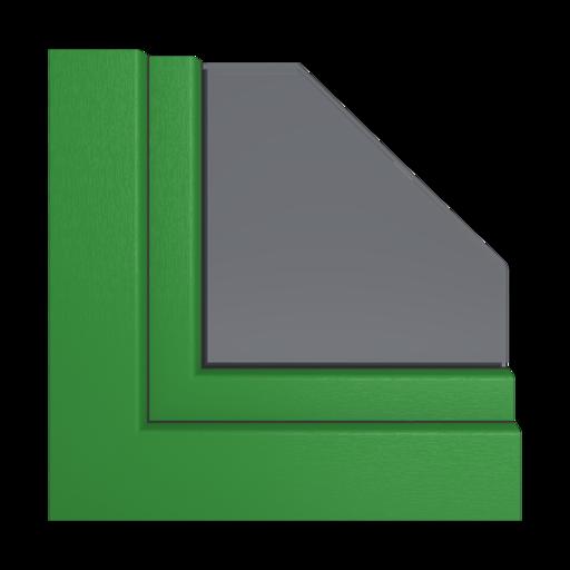 Kolory okien Veka Szmaragdowo-zielony