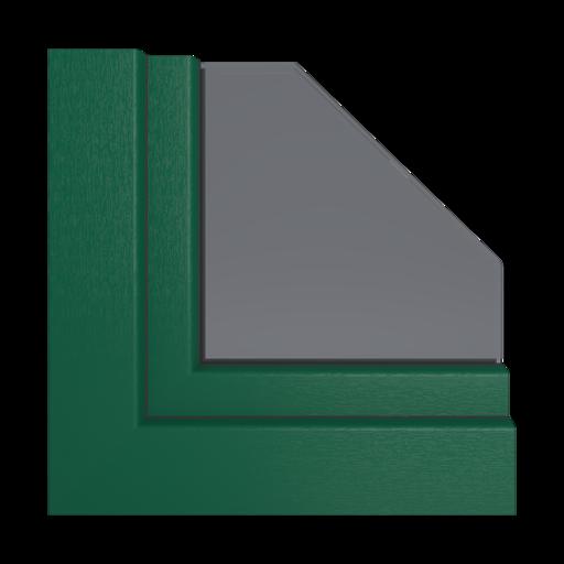 Kolory okien Veka Zielony