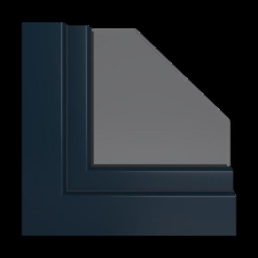 Kolory okien Veka Czarno-brązowy
