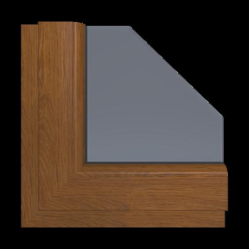 Okna Kolory Veka Dąb rustykalny Wewnętrzny