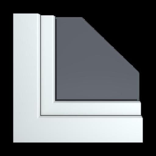 Kolory okien Aluplast Biały