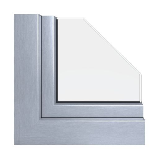 Kolory okien Aluplast Aluminium szczotkowane AP63