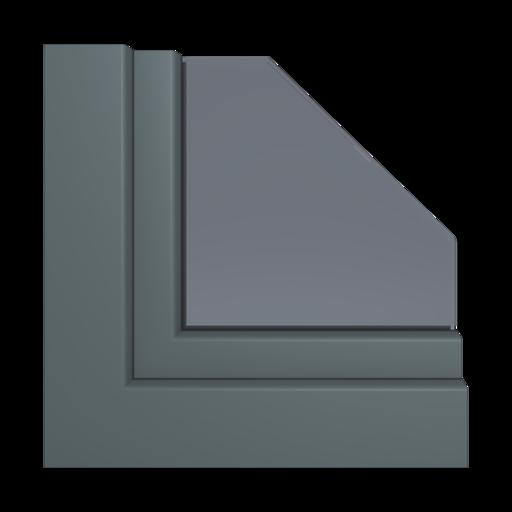Kolory okien Aluplast Szary antracytowy AP60