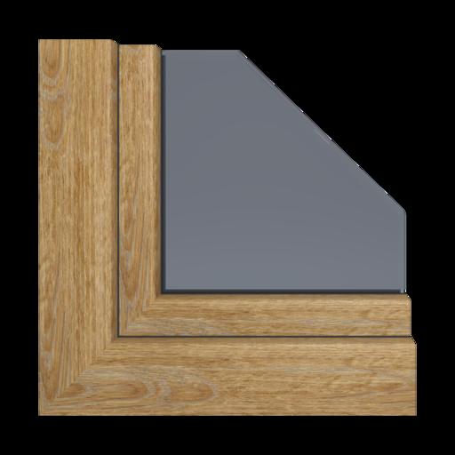 Kolory okien Aluplast Ciemny dąb AP06