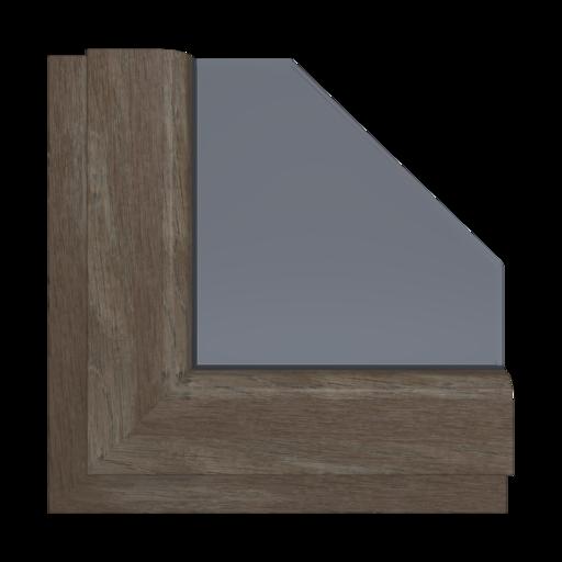 Okna Kolory Aluplast Walnuss amaretto AP29 Wewnętrzny
