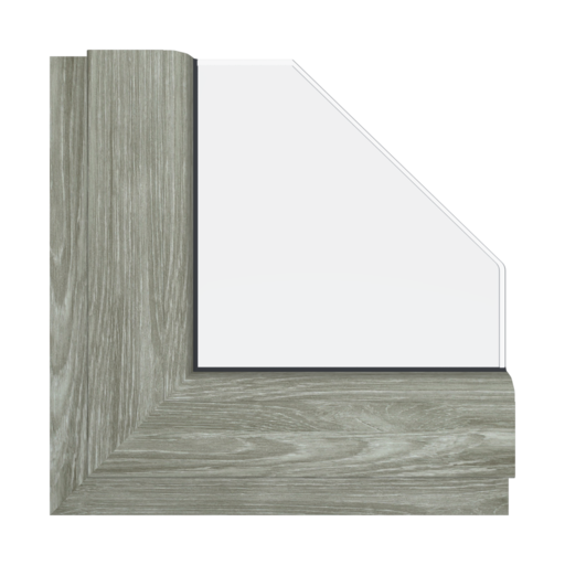 Okna Kolory Aluplast Dąb sheffield szary AP94 Wewnętrzny