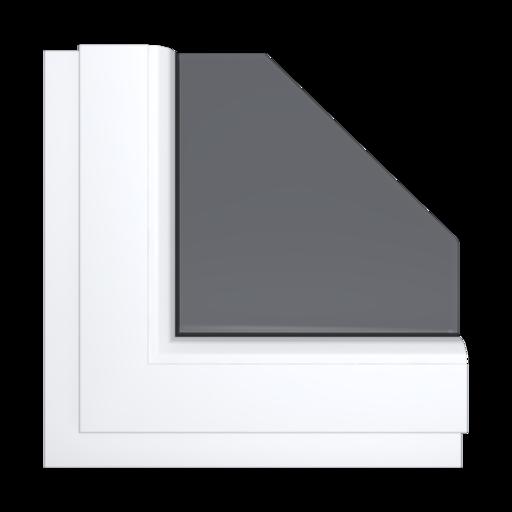 Okna Kolory Aluplast Aluminium szczotkowane AP63 Wewnętrzny