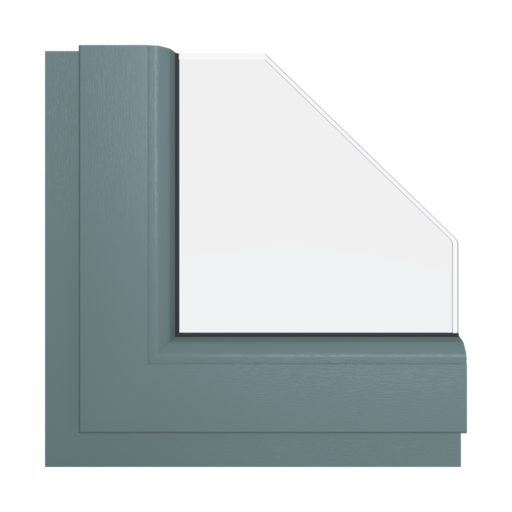 Okna Kolory Aluplast Szary bazaltowy AP102 Wewnętrzny