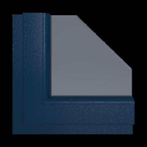 Okna Kolory Aluplast Szary kwarcowy AP88 Wewnętrzny