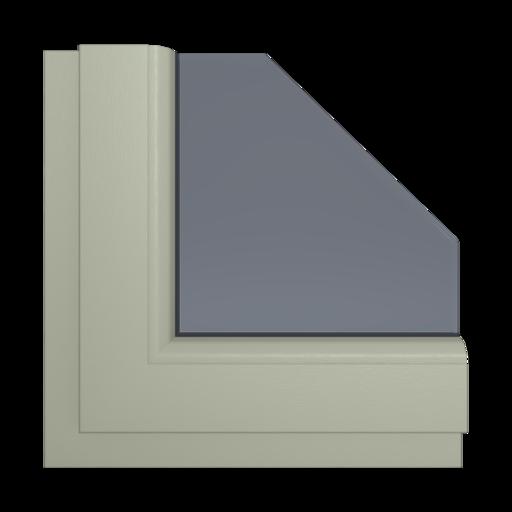 Okna Kolory Aluplast Czekoladowy brąz AP104 Wewnętrzny