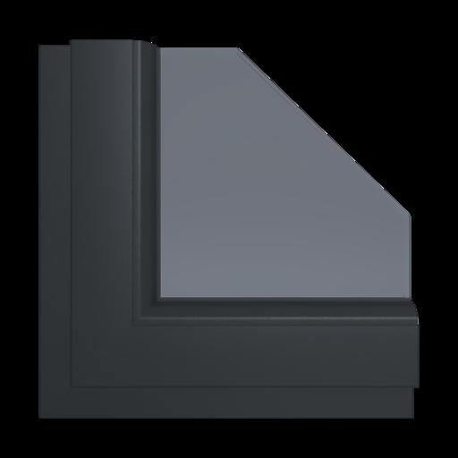Okna Kolory Aluplast Silver Alux AP107 Wewnętrzny