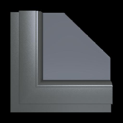 Okna Kolory Aluplast Ciemnobrązowy x-brush AP108 Wewnętrzny