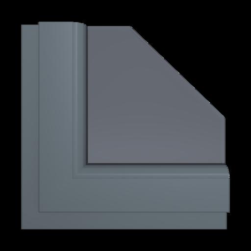 Okna Kolory Salamander Schiefergrau matt 34 Wewnętrzny