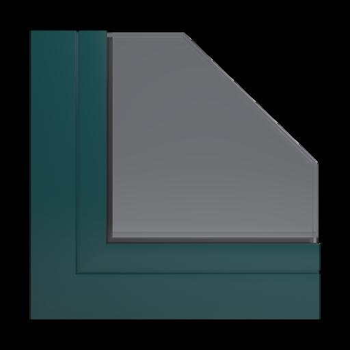 Kolory okien Aluplast RAL 6004 zielony niebieski