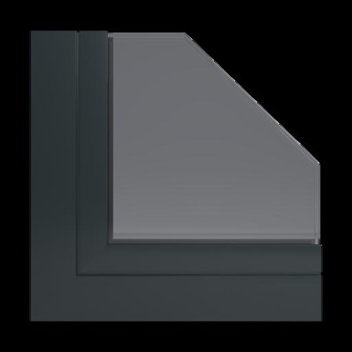 Kolory okien Aluplast RAL 9017 czarny drogowy